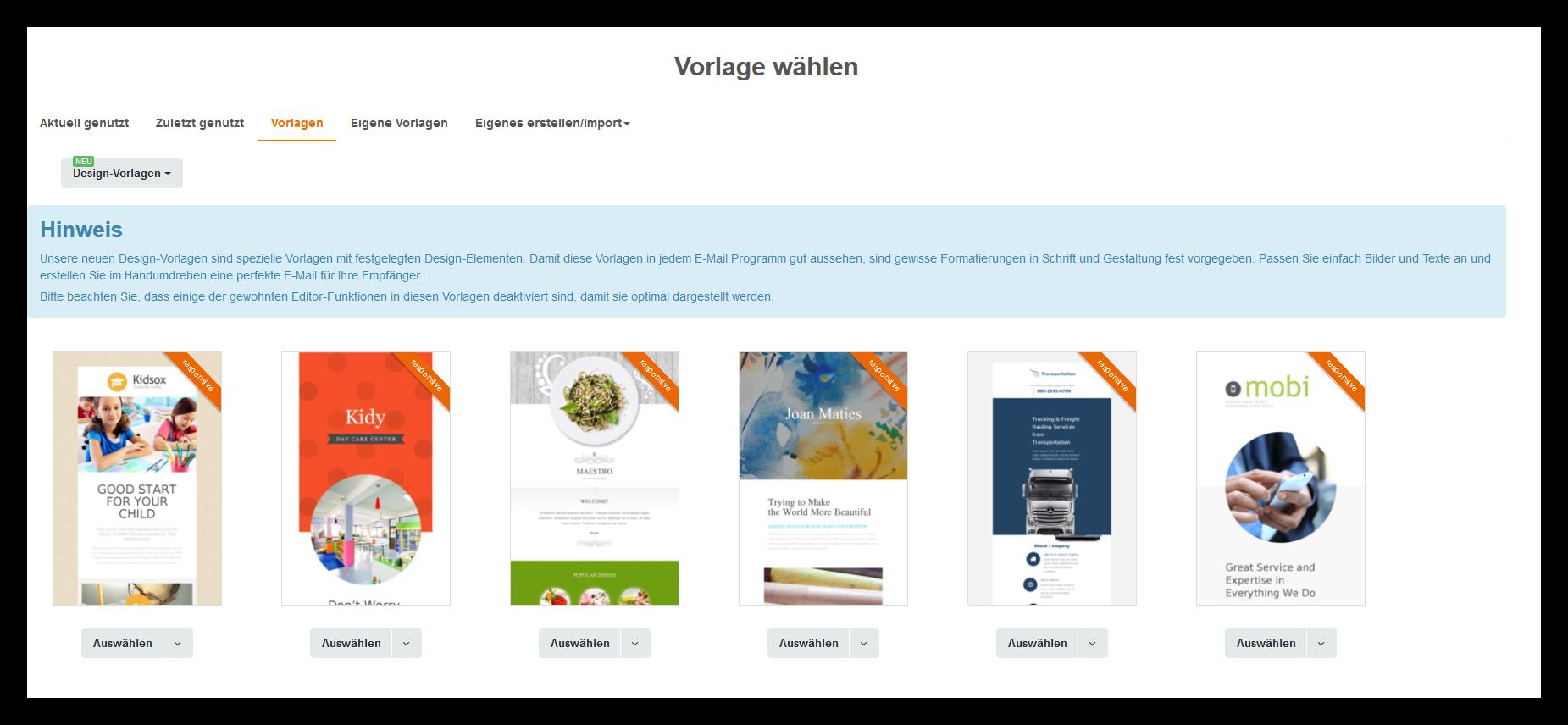 Html Design Vorlagen   Design Vorlagen Cleverreach Support