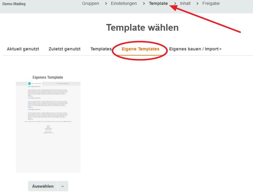 Eigenes Template (HTML-Vorlage) im Account hinterlegen – CleverReach ...