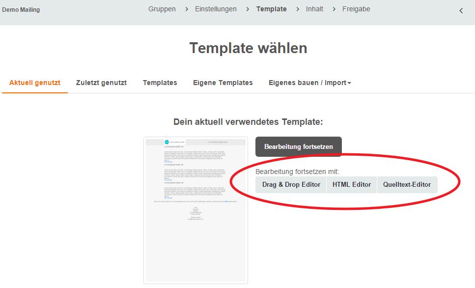 Wechseln in den HTML- oder Quellcode Editor – CleverReach Support