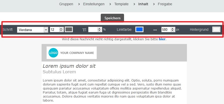 Wie kann ich die Schriftart, -farbe, -größe, Linkfarbe, etc. in ...