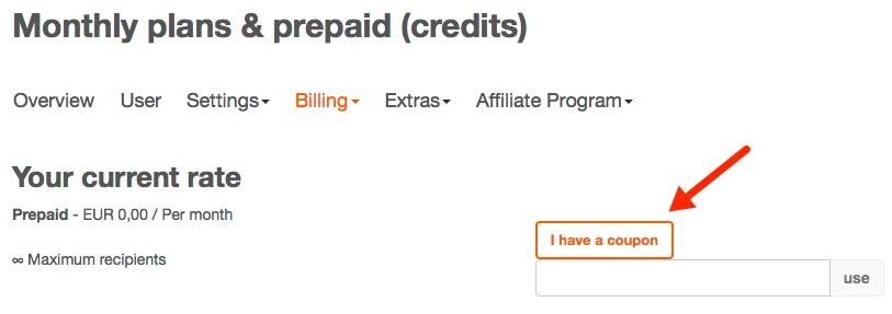 How can I redeem a voucher code? \u2013 CleverReach® Support